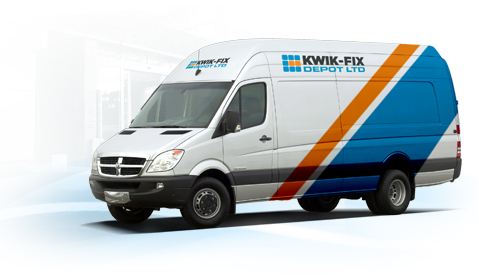 Kwik-Fix Depot Company Van – Floor Cleaning Machine Experts